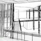 Architekturskizzentreppe vektor abbildung