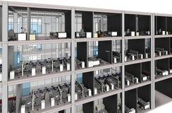 Architekturskizzenzeichnungs-Gebäudemodell Stockbild