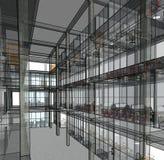 Architekturskizzenzeichnungs-Gebäudemodell Lizenzfreie Stockfotos