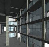 Architekturskizzenzeichnungs-Gebäudemodell Lizenzfreies Stockbild