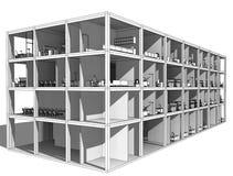 Architekturskizzenzeichnungs-Gebäudemodell Lizenzfreie Stockbilder