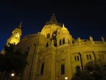 Architekturstädte der Europa-Sommernacht Stockbild