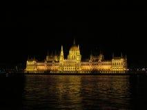 Architekturstädte der Europa-Sommernacht Stockfotografie
