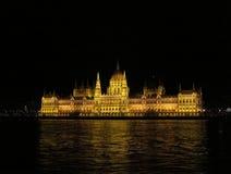 Architekturstädte der Europa-Sommernacht Stockfotos