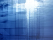 Architekturstahlblau Lizenzfreie Stockfotos