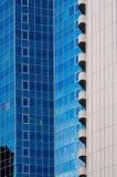 Architekturstrukturen von Wolkenkratzern in Frankfurt, Deutschland Stockfotografie