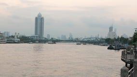 Architekturwasser Bangkoks, Thailand, Flussstadtasien stock video footage