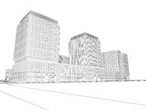 Architekturwireframe Plan Stockfotografie