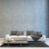 Architekturwohnzimmer-Design lizenzfreie abbildung