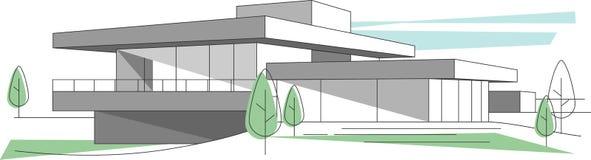 architektury abstrakcjonistyczny tło ilustracji