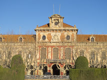 architektury autonomiczny Barcelona Catalonia punkt zwrotny parlament Fotografia Stock