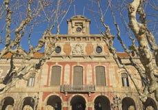 architektury autonomiczny Barcelona Catalonia punkt zwrotny parlament Obraz Royalty Free