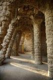 architektury Barcelona duży kolumn gaudi guell stary parc Zdjęcie Stock