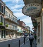 architektury francuska nowa Orleans ćwiartka Zdjęcie Royalty Free