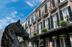architektury francuska nowa Orleans ćwiartka Zdjęcia Stock