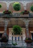 architektury francuska nowa Orleans ćwiartka Obrazy Stock
