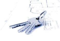 architektury kluczy plan Obrazy Stock