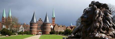architektury północny ceglany europejski Zdjęcie Royalty Free