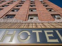 Architektury perspektywa, hotel zdjęcia stock