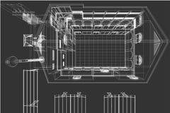 Architektury rysunkowy tło, architektoniczny plan, budowa rysunek, podłogowy plan Zdjęcia Royalty Free