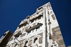 architektury Sanaa typowy Yemen yemeni Zdjęcie Stock