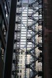 architektury tła budynku nagłego wypadku ucieczki ogienia schodki miastowi Obrazy Stock