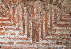 architektury tła ceglanego szczegółu stara czerwona tekstury ściana Obrazy Stock