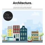 Architektury tła pejzaż miejski 1 Zdjęcie Royalty Free