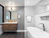 Architekturzeichnung des Badezimmers - Illustration Stockbilder
