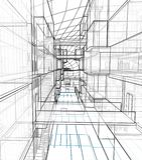 Architekturzeichnung und Perspektive vektor abbildung