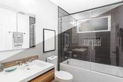 Architekturzeichnung von Badezimmer Illustration Lizenzfreies Stockbild