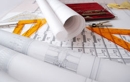 Architekturzeichnungen Lizenzfreies Stockbild