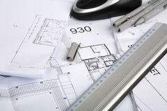 Architekturzeichnungen Lizenzfreie Stockbilder