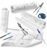 Architekturzeichnungen Lizenzfreie Abbildung