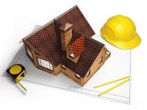 Architekturzeichnungen von der Gebäudestruktur Lizenzfreie Stockfotos