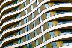 Architekturzusammenfassung, Äußeres einer modernen Wohnung Lizenzfreie Stockbilder