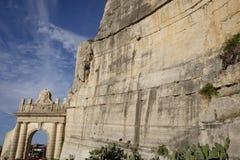 Architeptur rzymski w terracina zdjęcia royalty free