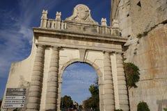 Architeptur rzymski w terracina fotografia stock