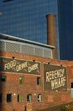 Architetcure del molo di Regency - di Birmingham vecchio e nuovo Fotografia Stock