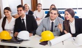 Architetti che avanzano i corsi di formazione in aula Fotografie Stock