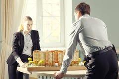 Architetti degli studenti sul lavoro Fotografia Stock