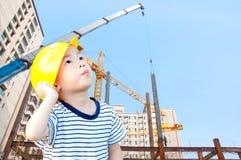 Architetti e costruzione del ragazzo Immagini Stock Libere da Diritti