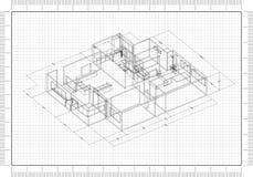 Architetto Blueprint illustrazione di stock