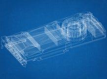 Architetto Blueprint di progettazione di carta grafica Fotografia Stock
