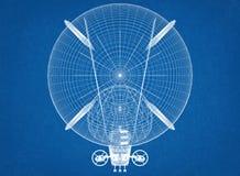 Architetto Blueprint di progettazione del dirigibile illustrazione di stock