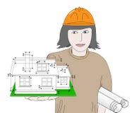 Architetto della costruzione Fotografia Stock