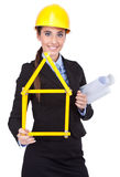 Architetto di nuovi programmi di costruzione di alloggi Immagine Stock Libera da Diritti