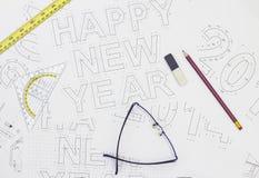 Architetto Drawings Fotografia Stock