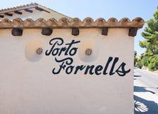 Architettura affascinante di Cala Fornells Fotografia Stock Libera da Diritti