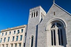 Architettura agostiniana della chiesa Fotografie Stock